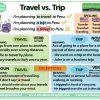 The difference between Travel and Trip in English