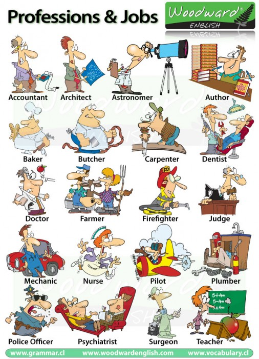 Professions, Jobs and Occupations in English