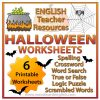 Halloween Worksheets - Spelling, Crossword, Word Search, True or False, Logic Puzzle and Scrambled Word Activities