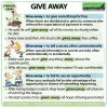 GIVE AWAY - Meanings and examples of the English Phrasal Verb GIVE AWAY - Woodward English