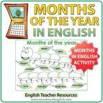 Months of the Year in English - The Caterpillar activity - ESL / EFL Teacher Resource