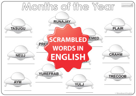 English Months - UFO Worksheet