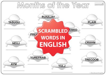 English Months - UFO Worksheet