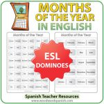 Months in English - Dominoes - ESL/EFL Teacher Resource
