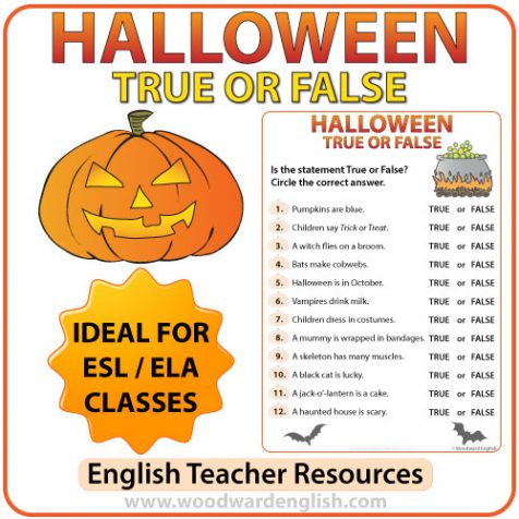 Halloween True or False Quiz in English - ESL Resources
