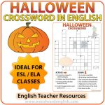Halloween Crossword in English - ESL Teacher Resources