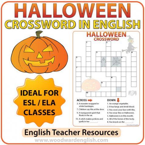 Halloween Crossword in English - ESL Teacher Resources