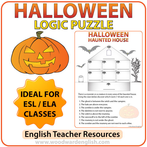 Halloween Logic Puzzle in English : Woodward English