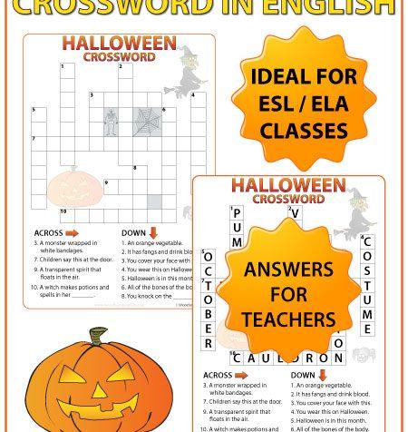 ESL Halloween Crossword - English Teacher Resources