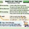AT, ON, IN with parts of the day - Prepositions of Time in English.
