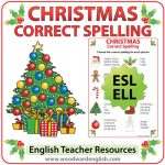 English spelling activity with Christmas vocabulary.