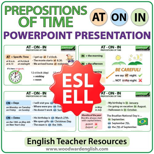 Prepositions of Place: AT ON IN - PowerPoint Presentation for ESL Teachers