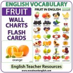 Fruit in English - Flash Cards and Charts - ESL/ELL Teacher Resource