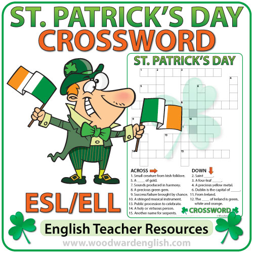 Saint Patrick's Day Crossword in English
