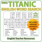 Titanic Word Search in English - English Teacher Resources