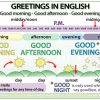 Good morning, good afternoon, good evening, good night - Greetings in English