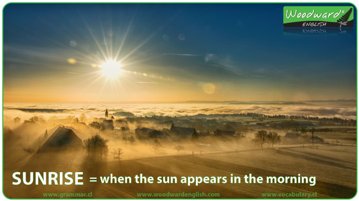 Sunrise meaning in English - ESL Definition