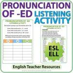 ED Pronunciation in English - ESL listening activity - Teacher Resource