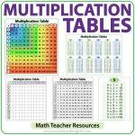 Multiplication Tables - Math Teacher Resource