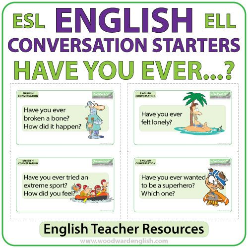 Have you ever... ? Questions - English Conversation Cards