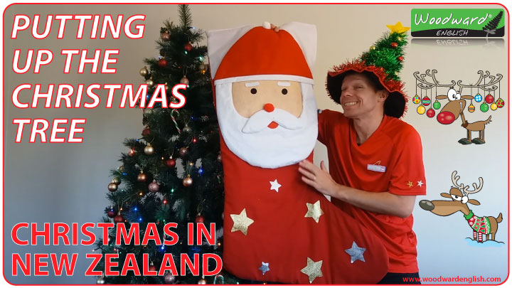 Putting up the Christmas Tree – Xmas in New Zealand