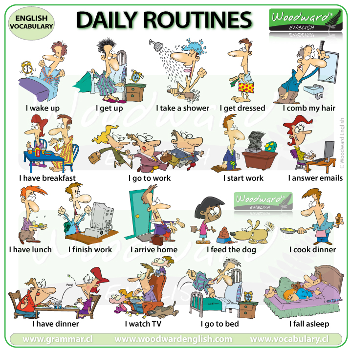 Daily Routines in English | Woodward English