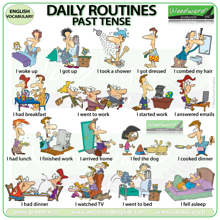 Daily Routines - Past tense in English