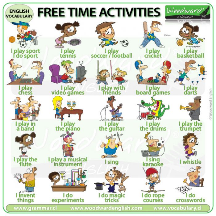 ESOL free time activities in English