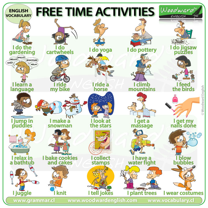 Leisure activities in English - Free time Vocabulary