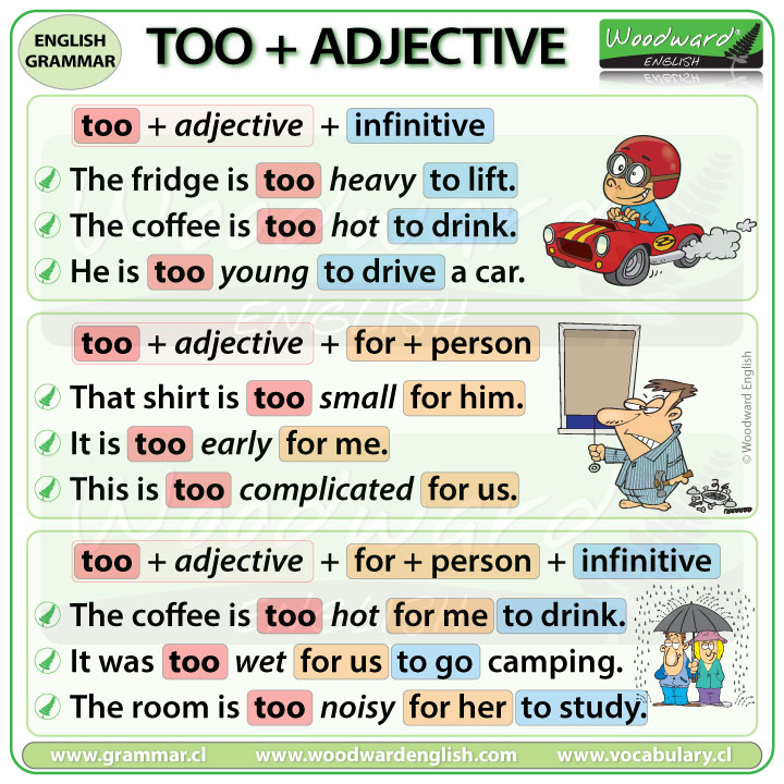 Too + Adjective + Infinitive - English Grammar - Word Order