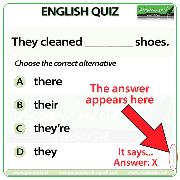 Woodward English Quiz Answers