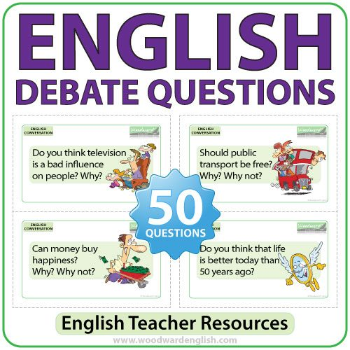 English debate questions - 50 topics to get students to give their opinions