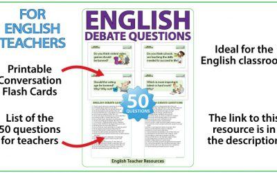 50 English Debate Questions – Teacher Resource