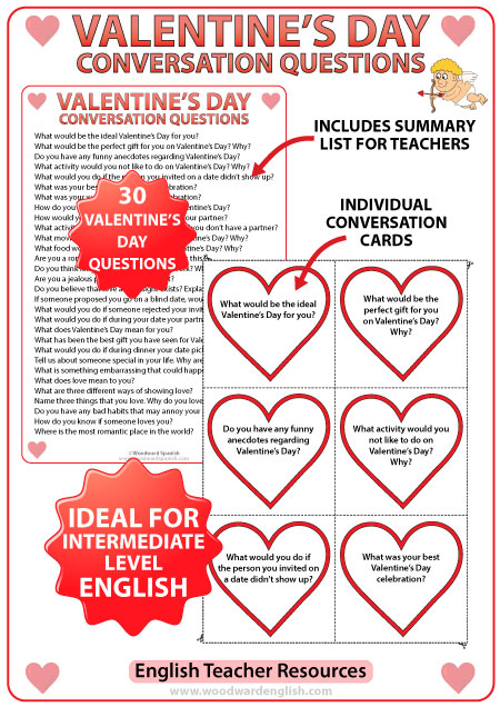 English conversation questions about Valentine's Day