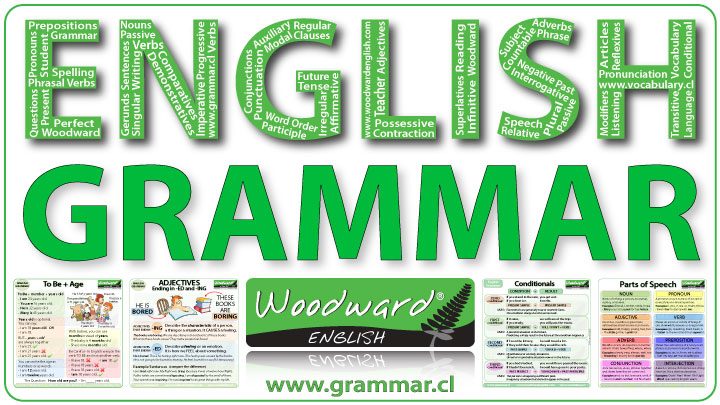 English grammar lessons by Woodward English