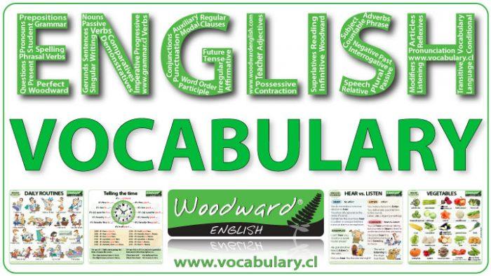 English vocabulary lessons by Woodward English