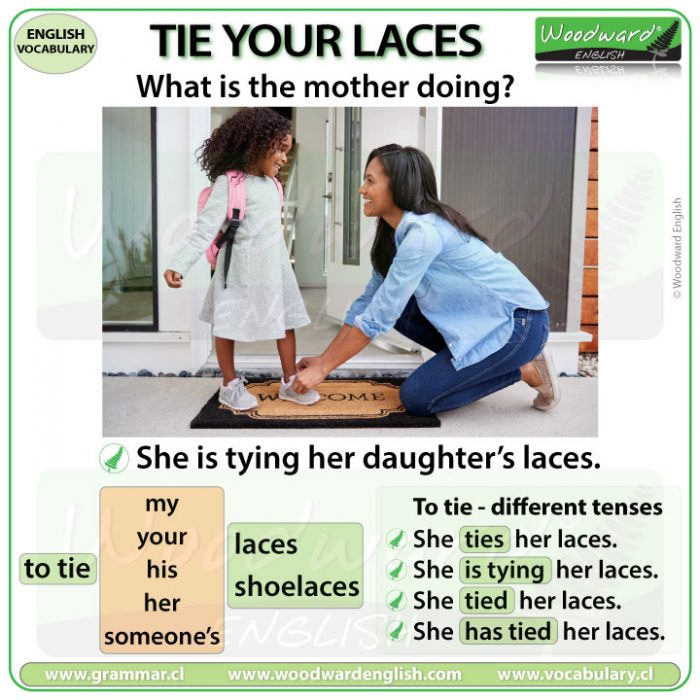 Tie your laces - Tying your laces - Learn English Vocabulary