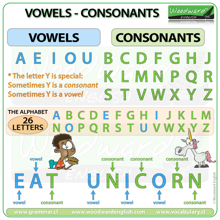 Vowels in English - Consonants in English - The English Alphabet