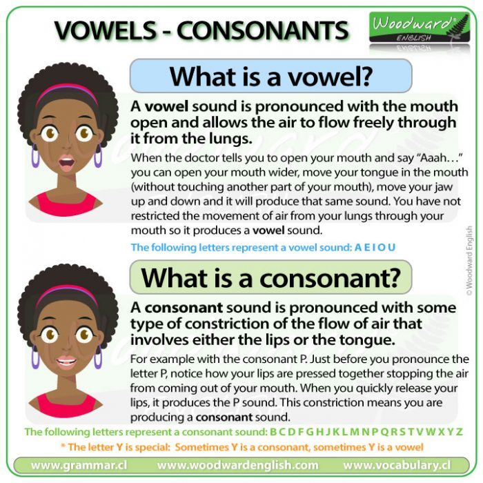What is a vowel? What is a consonant? The difference between a vowel and consonant in English.