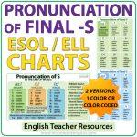 Pronunciation of Final S in English - ESOL Charts