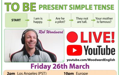 Live on YouTube – Error Analysis – TO BE – Present Simple Tense