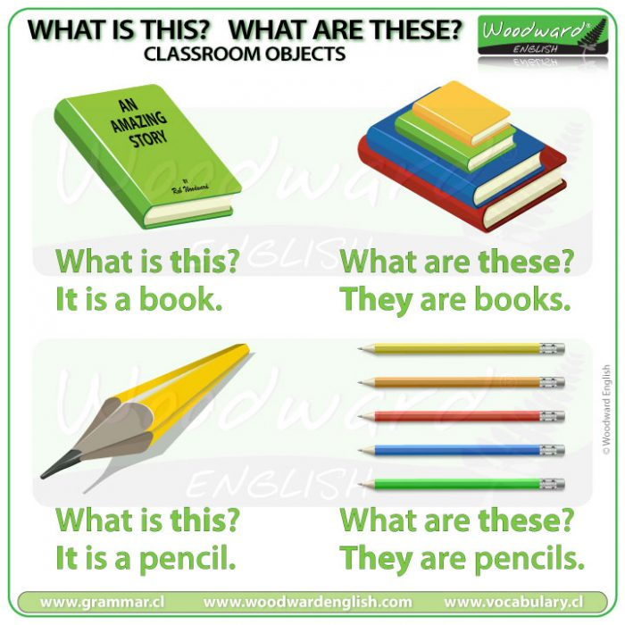 What is this? What are these? Practice questions with answers - Classroom Vocabulary in English