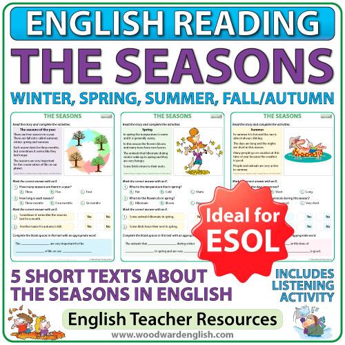 The Seasons - English reading resource for ESOL teachers
