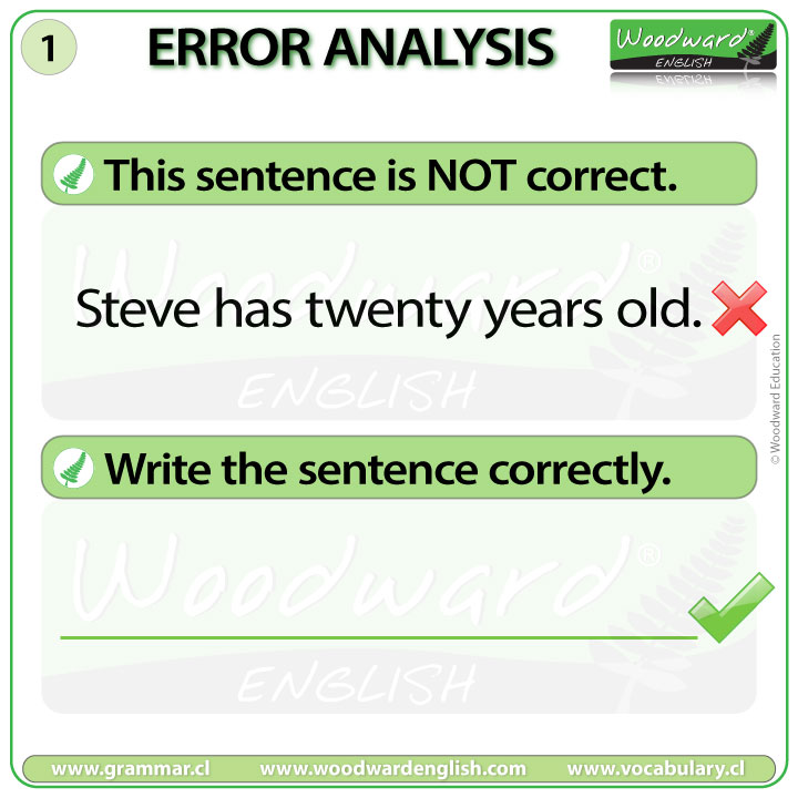 English Error Analysis 1 - Age in English