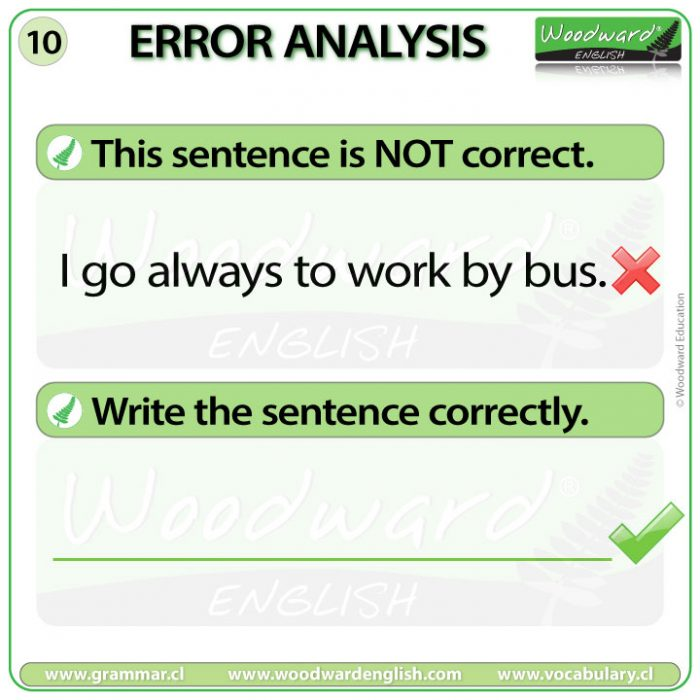 English Error Analysis 10 - Woodward English