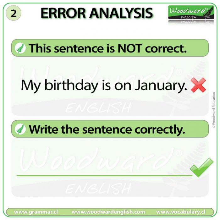 English Error Analysis 2 - Prepositions of Time in English
