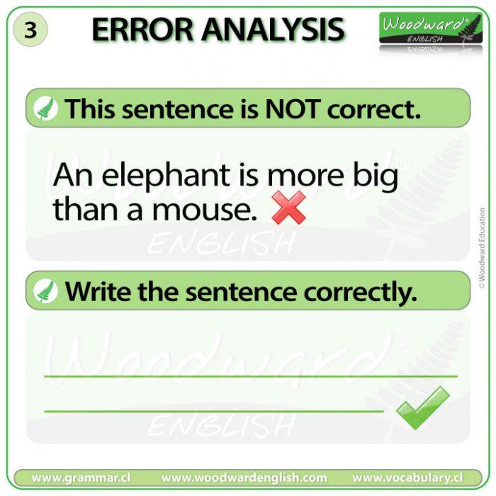 English Error Analysis 3 - Comparatives in English