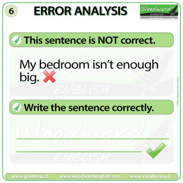 English Error Analysis 6 - Woodward English