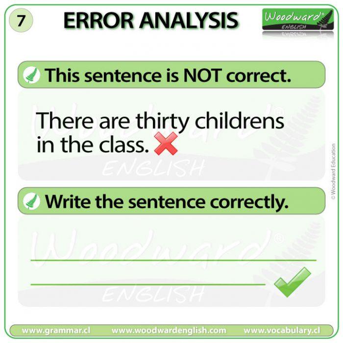 English Error Analysis 7 - Woodward English