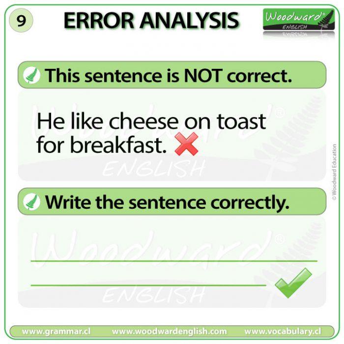 English Error Analysis 9 - Woodward English